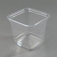 D&W Fine Pack SQ24N 24 oz. Square PLA Biodegradable / Compostable Plastic Clear Corn Deli Container 500/Case