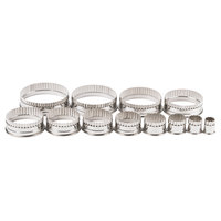 Ateco 5407 12-Piece Stainless Steel Round Fluted Cutter Set (August Thomsen)