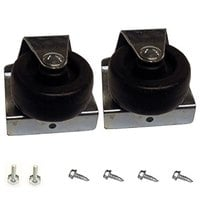 True 929654 2 inch Swivel Casters with Leveling and Mounting Screws - 2/Set