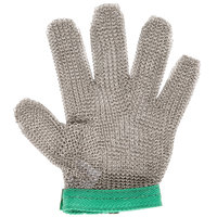 Victorinox 81501 saf-T-gard GU-500 Green Cut Resistant Stainless Steel Mesh Glove - Extra-Small