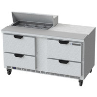 Beverage Air SPED60HC-08-4 60 inch 4 Drawer Refrigerated Sandwich Prep Table