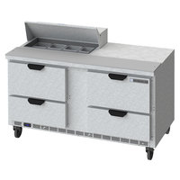 Beverage-Air SPED60HC-08-4 60 inch 4 Drawer Refrigerated Sandwich Prep Table