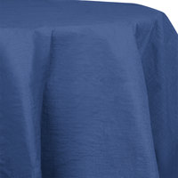 Creative Converting 923278 82 inch Navy Blue Tissue / Poly Table Cover