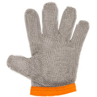Victorinox 81505 saf-T-gard GU-500 Orange Cut Resistant Stainless Steel Mesh Glove - Extra-Large