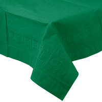 Creative Converting 710201B 54 inch x 108 inch Emerald Green Tissue / Poly Table Cover