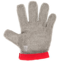 Victorinox 81503 saf-T-gard GU-500 Red Cut Resistant Stainless Steel Mesh Glove - Medium