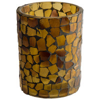 Sterno Products 80100 3 1/2 inch Amber Mosaic Votive Liquid Candle Holder
