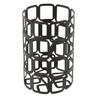 Sterno Products 85250 2 1/2 inch x 4 inch Black Square Wire Metal Lamp Base