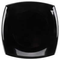 Arcoroc C9867 Opal Delice 7 1/4 inch Square Black Salad / Dessert Plate by Arc Cardinal - 24/Case