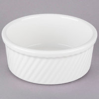 Tuxton BWX-2104 DuraTux 21 oz. White China Souffle with Swirl Sides - 12/Case
