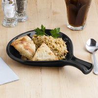 Tuxton BBP-100 DuraTux Black 12 oz. Fry Pan Server - 12/Case