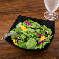 Arcoroc C9850 Opal Delice 28 oz. Square Black Salad / Soup Bowl by Arc Cardinal - 24/Case