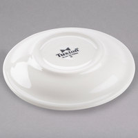 Tuxton TRE-966 DuraTux 6 inch Ivory (American White) China Steakhouse Saucer - 24/Case