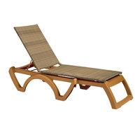 Grosfillex US465208 / US645208 Java Teakwood / Honey Wicker Resin Chaise