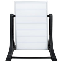 Aarco ROC-1 The Rocker Two Sided White Letterboard with Stand and Characters - 24 inch x 36 inch