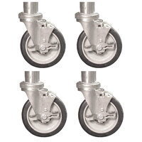 Town 250510 4 inch Stem Casters for Smokehouses - 4 / Set