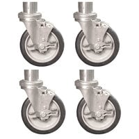 Town 250510 4 inch Stem Casters for Smokehouses - 4/Set