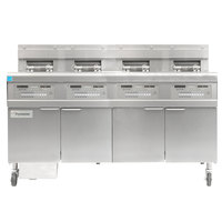 Frymaster FPGL430-8CA Liquid Propane Floor Fryer with Four Split Frypots and Automatic Top Off - 300,000 BTU