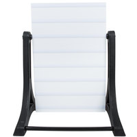 Aarco ROC-4 The Rocker Two Sided White Letterboard with Stand and Deluxe Character Set - 24 inch x 36 inch