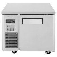 Turbo Air JUR-36 J Series 36 inch Solid Door Undercounter Refrigerator with Side Mounted Compressor