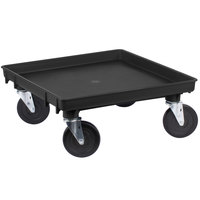 Vollrath 1697-06 Traex Recycled Black Rack Dolly Base (No Handle) - 21 inch x 21 inch