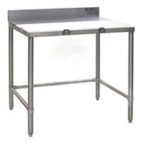 Eagle Group TB3036S 30 inch x 36 inch Poly Top Stainless Steel Trimming Table - Open Base