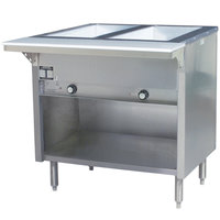 Eagle Group HT2OBE Spec Master Series Electric Steam Table with Enclosed Base - Two Pan - Open Well, 240V