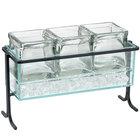 Cal-Mil 1806-7-13 Iron Tall Black Iced Jar Display - 13 1/2 inch x 5 1/2 inch x 9 inch