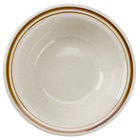 Brown Speckle Narrow Rim 6 1/2 inch China Grapefruit Bowl / Dish   - 36/Case