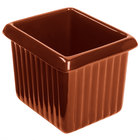 Tablecraft CW1520CP 1 Qt. Copper Cast Aluminum Rectangle Server with Ridges