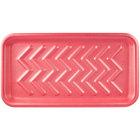 CKF 88074 (#25S) Rose Foam Meat Tray 15 inch x 8 inch x 5/8 inch - 250/Case
