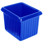 Tablecraft CW1520CBL 1 Qt. Cobalt Blue Cast Aluminum Rectangle Server with Ridges