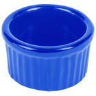 Tablecraft CW1655CBL 6 oz. Cobalt Blue Cast Aluminum Ramekin