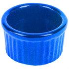 Tablecraft CW1655BS 6 oz. Blue Speckle Cast Aluminum Ramekin