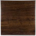 BFM Seating TTRSN3636WA Resin 36 inch Square Indoor Tabletop - Walnut