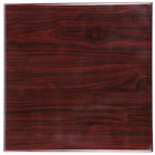 BFM Seating TTRSN3636MH Resin 36 inch Square Indoor Tabletop - Mahogany