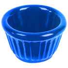 Tablecraft CW1640BS 1.2 oz. Blue Speckle Cast Aluminum Ramekin