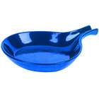 Tablecraft CW1960BS 8 3/8 inch Blue Speckle Cast Aluminum Open Handle Skillet