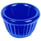 Tablecraft CW1640BL 1.2 oz. Cobalt Blue Cast Aluminum Ramekin