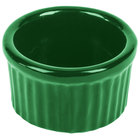 Tablecraft CW1655GN 6 oz. Green Cast Aluminum Ramekin