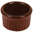 Tablecraft CW1655MAS 6 oz. Maroon Speckle Cast Aluminum Ramekin