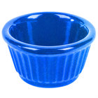Tablecraft CW1650BS 3 oz. Blue Speckle Cast Aluminum Ramekin