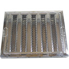 FMP 129-2122 16 inch(H) x 20 inch(W) x 2 inch(T) Stainless Steel Hood Filter with Hook and Spark Arrestor - Kleen-Gard