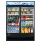 Turbo Air TGM-50RSB 56 inch Black Two Glass Door Refrigerated Merchandiser