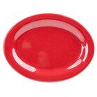 GET OP-950-RSP Red Sensation 9 3/4 inch x 7 1/4 inch Oval Platter - 24 / Case