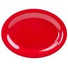 GET OP-135-RSP Red Sensation 13 1/2 inch x 10 1/4 inch Oval Platter - 12/Case
