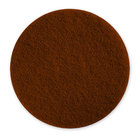Scrubble by ACS 71-6 1/2 6 1/2 inch Brown Stripping Floor Pad - Type 71 - 10/Case