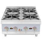 Cooking Performance Group HP424 4 Burner Gas Countertop Hot Plate - 88,000 BTU
