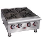 APW Wyott HHPS-636 Heavy Duty 6 Burner Step-Up Countertop 36 inch Range / Hot Plate - 180,000 BTU