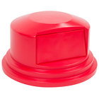 Rubbermaid FG265788RED Brute Red Round Dome Top for FG265500 Containers 55 Gallon